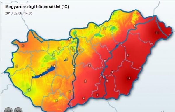 eső térkép magyarország Eső és hó hullott többfelé | idojaras.hu eső térkép magyarország