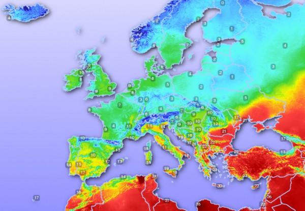 időjárási térkép európa Megvolt az első kánikulai nap Görögországban | időjárási térkép európa
